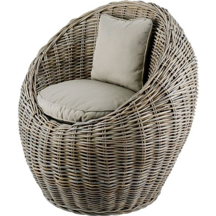 Fauteuil rond Kubu Inwood Achat Vente fauteuil Soldes d¨s