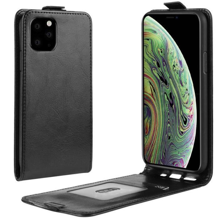 Coque Apple iPhone 11 Pro 2019Vert Durable PU Cuir Magnétique Flip Case Pochette Fleur Gaufrés Protection Bumper