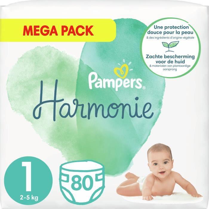 Le paquet de 35 Pampers Couches Harmonie taille 1 2-5 kg