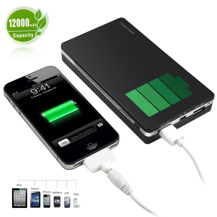 12000 mah batterie externe pr iphone ipad ipod sam achat. Black Bedroom Furniture Sets. Home Design Ideas