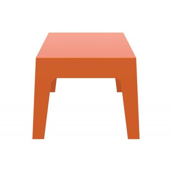 Table basse de jardin en plastique orange 50x70x43 cm MDJ10171