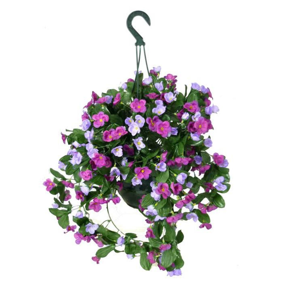 Suspension fleurs artificielles st paulia violine en pot for Vente par correspondance de fleurs
