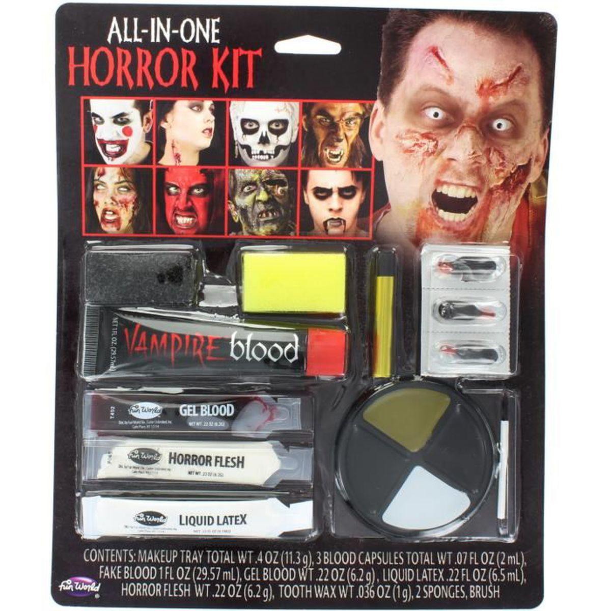 Famille Taille Horreur Kit Maquillage Déguisement Halloween Spécial Fx