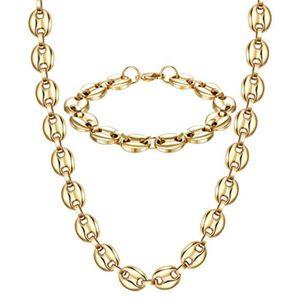 BRACELET - GOURMETTE Collier Z991R collier et bracelet en acier inoxyda