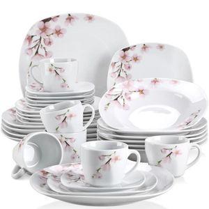 SERVICE COMPLET Veweet ANNIE 30pcs Service de Table Porcelaine 6pc
