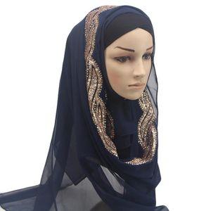 ECHARPE - FOULARD Les diamants de mode Musulmanes Ramadan Châle Écha