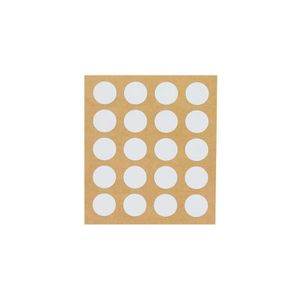 VIS - CACHE-VIS 100 caches adhésifs Blanc pour tête de vis D. 4, 5