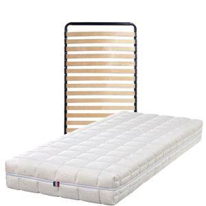 ENSEMBLE LITERIE Matelas 100x200 + Sommier Démonté + pieds Offerts