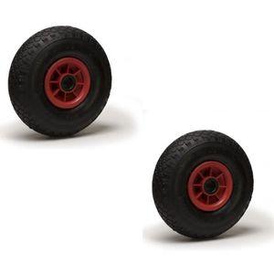 ROUE - ROULETTE Lot de 2 roues gonflables 3.00-4 (2PR) pour diable