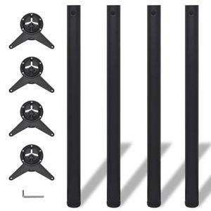 PIED DE TABLE 4 pieds de table réglables en hauteur 870 mm Noir