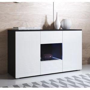 BUFFET - BAHUT  Bahut Luke A2 - 120 x 72cm - Noir et blanc