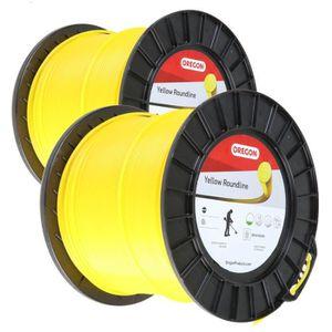 Bobine Fil Oregon Yellow 2 mm x 260 m Pi/èce neuve Rond Fil d/ébroussailleuse