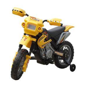 MOTO - SCOOTER Moto électrique pour enfants Jaune-Véhicules élect