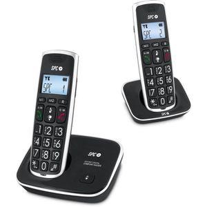 Téléphone fixe SPC 7609N Téléphone DECT DUO Grandes Touches AG20