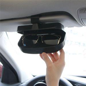 LUNETTES DE SOLEIL Boîte à lunettes de voiture Porte-lunettes avec po