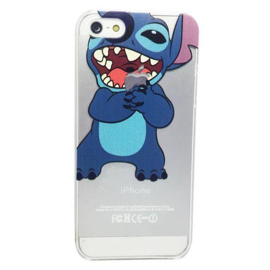 Coque Iphone 5 5S Transparente Stitch qui Croque la Pomme Etui ...