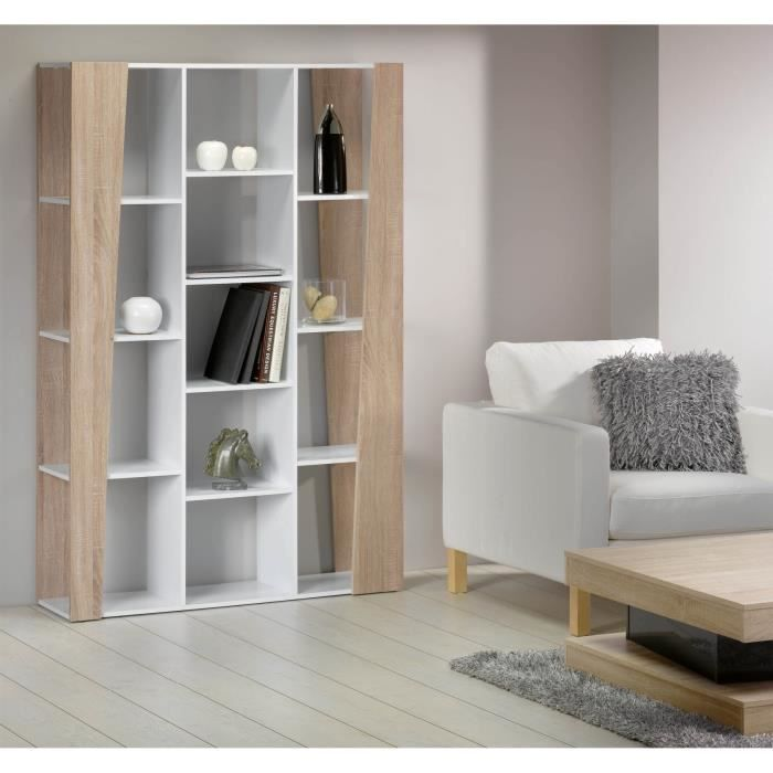 touch etag re biblioth que meuble 180cm blanc achat vente meuble tag re touch etag re. Black Bedroom Furniture Sets. Home Design Ideas