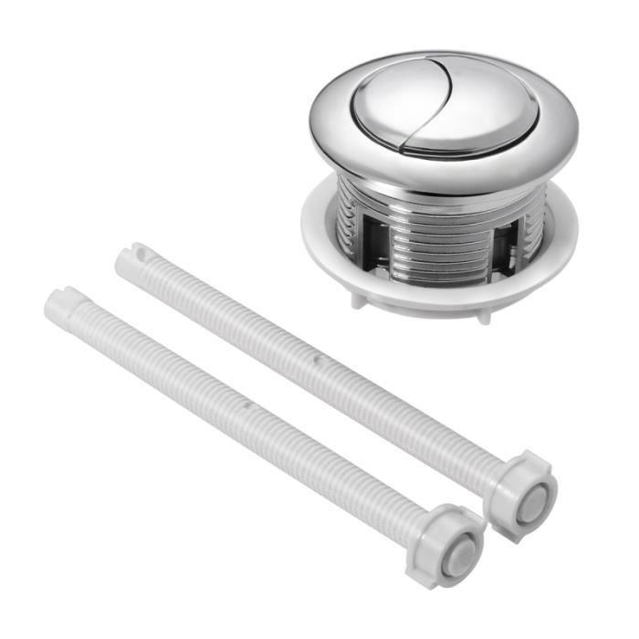Bouton poussoir de réservoir d'eau de toilette durable pratique de remplacement ROSENICE 114mm avec tiges pièces de RESERVOIR WC