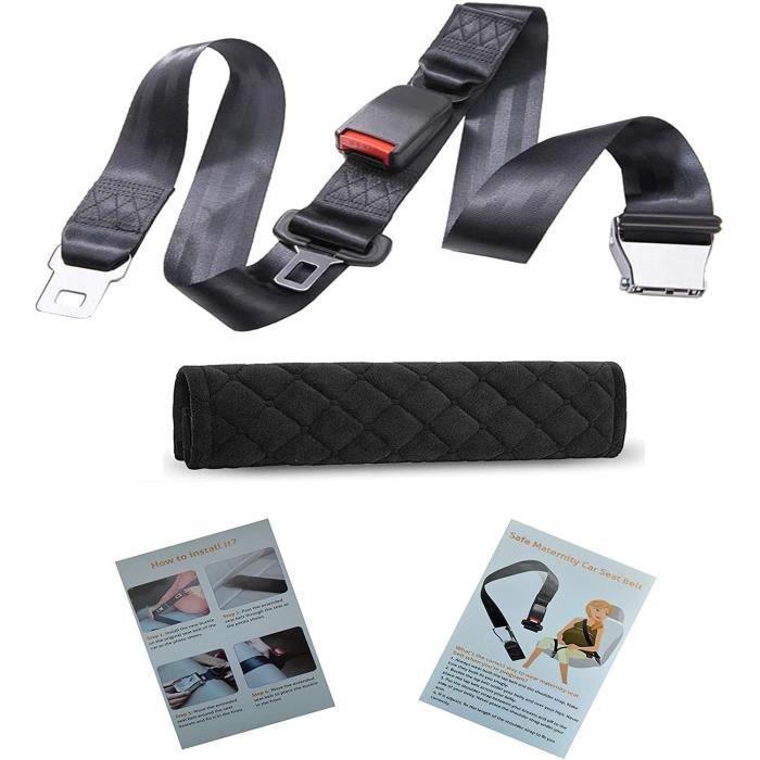 Ajusteur ceinture femmes enceintes voiture + un fourreau universel - Clip ceinture de sécurité, ceinture de sécurité protection gros