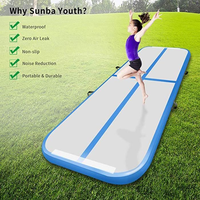 3m / tapis de yoga de plancher de matelas acrobatique de piste gonflable de gymnastique d'air avec la pompe électrique(fret aérien)