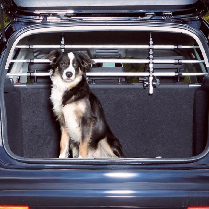 Grille de separation de voiture pour animaux TRIXIE Grille pare-chien pour voiture Argente et noir