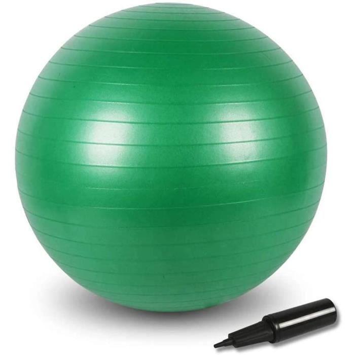 Ballon Fitness, 55cm-65cm-75cm de Gymnastique Balle, Yoga Pilates Core Training,de Yoga avec Pompe Vert