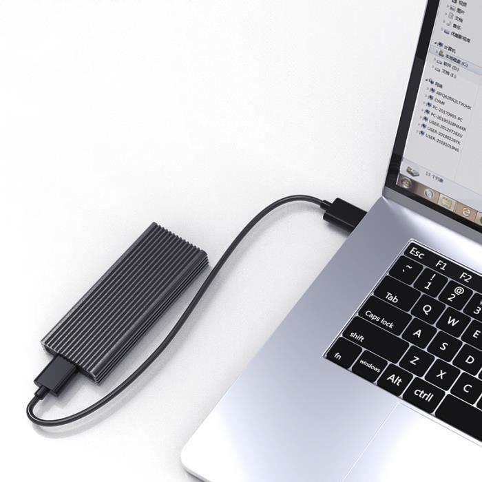 NVMe PCIe M.2 SSD Boîtier Externe De Adaptateur Pour Disque Dur TYPE C Vers USB A Meg37040