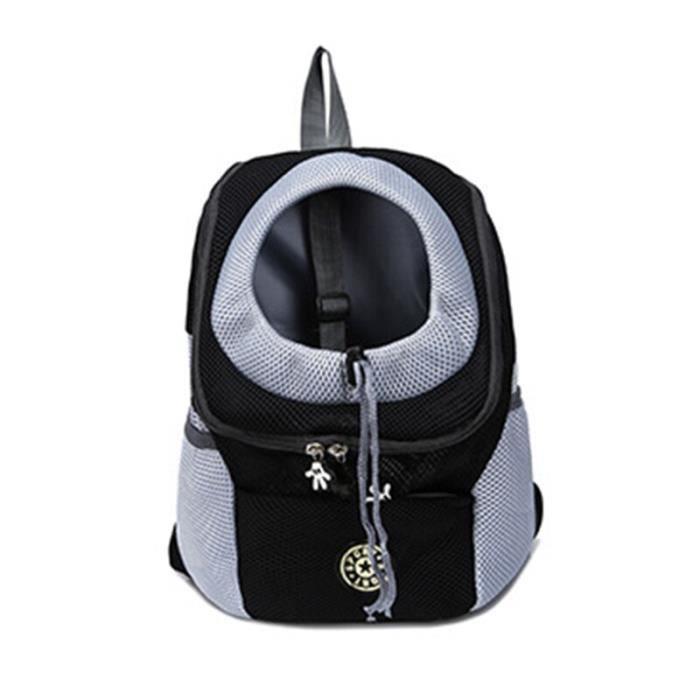 Sac de transport,Sac à dos frontal pour chien chat Animal domestique, sac de voyage pour petits chiens, sac de - Type Black-L