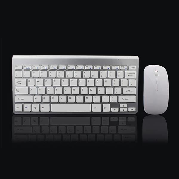 2,4 Ghz Clavier et souris sans fil ultra-mince Avec le jeu de clavier souris recepteur USB Pour Apple PC Windows XP - 7-8-10 My12148