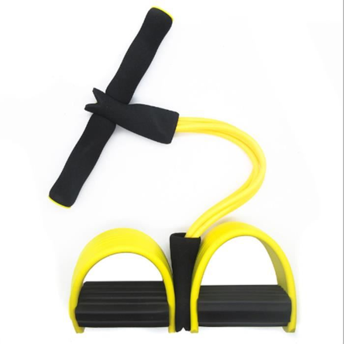 Bande de tension,Fitness Bands Set Strips Exercise Band for Training/Physical Stretching, Resistance Band, Couleur: Jaune