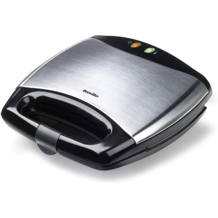 Breville VST051X Appareil à Croque Monsieur et à Sandwichs 750 W Noir/Inox