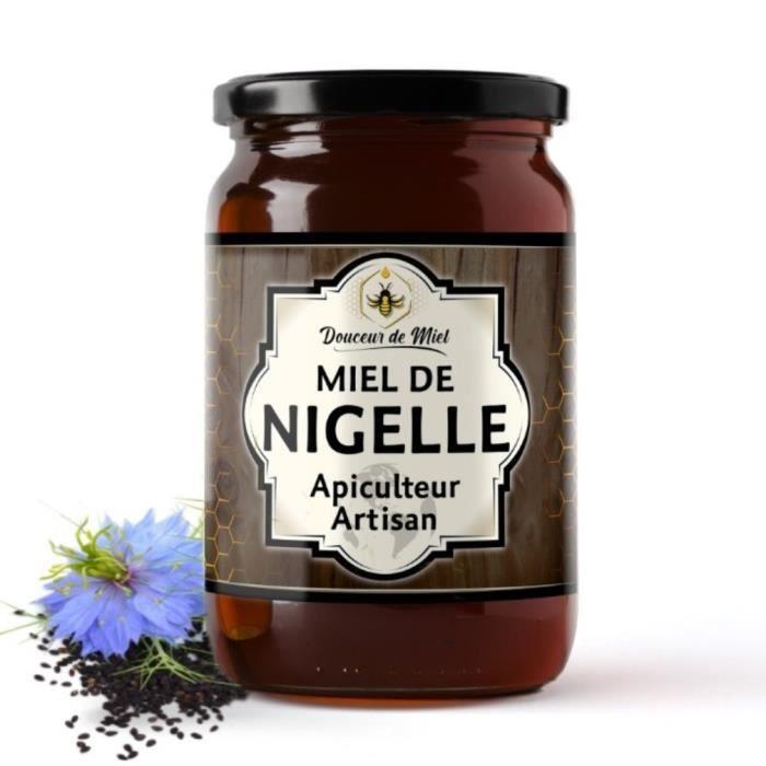 Miel de Fleurs de Nigelle - Bienfaits multiples - Pot de 250g