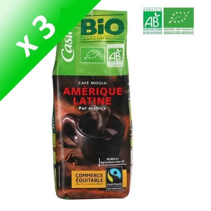 [LOT DE 3] Café moulu pur Arabica Amérique Latine Bio - 250 g