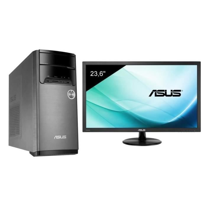 ASUS M32CD-K-FR010D - i5-7400 - 8Go - 128Go + 1To - GTX1050 - Endless + Ecran VP247HA - 24\