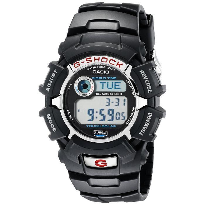CASIO G-Shock G2310R-1 solaire en résine noire montre de sport CHJUQ