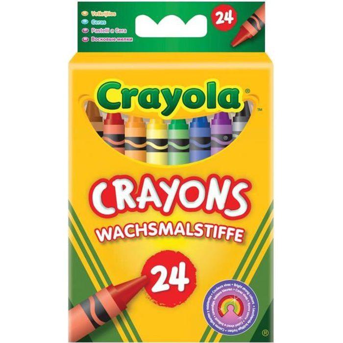 Crayola - 24 Crayons à la cire - Coloriage