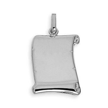 DIAMANTLY Pendentif or 750 parchemin or gris