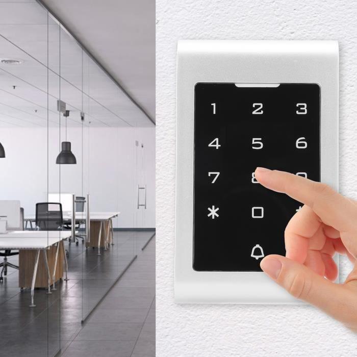 Clavier de contrôle d'accès RFID Contrôleur d'accès de porte Clavier rétroéclairé Écran tactile anti-interférence 13,56 MHz