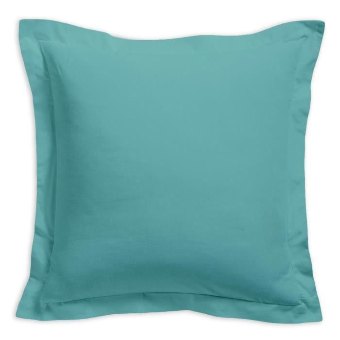 TODAY Taie d'oreiller 100% coton - 75x75 cm - Diabolo menthe