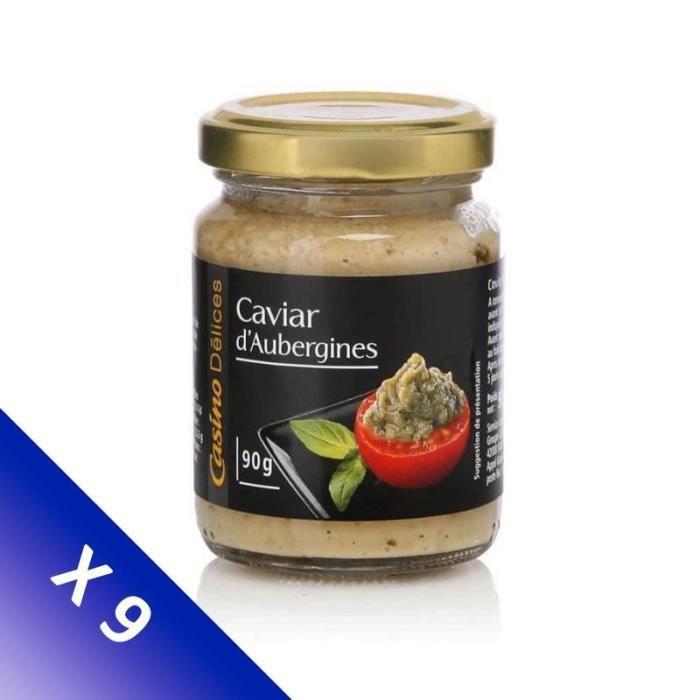 [LOT DE 9] CASINO DELICES Caviar d'aubergine - 90g