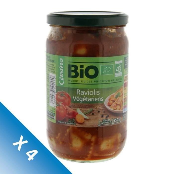 [LOT DE 4] METS DE PROVENCE (LES) Raviolis vegetal BIO - 650 g