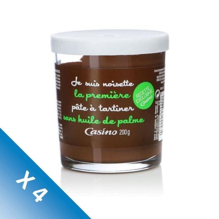 [LOT DE 4] Pâte à tartiner sans huile de palme 200 g