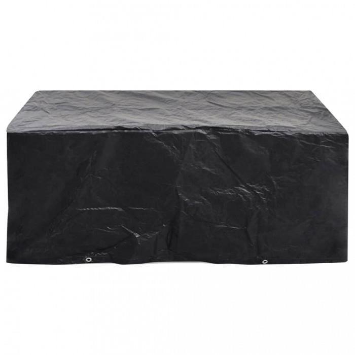 Housses pour meubles d\'exterieur Housse de mobilier de jardin 8 œillets 242  x 162 x 100 cm