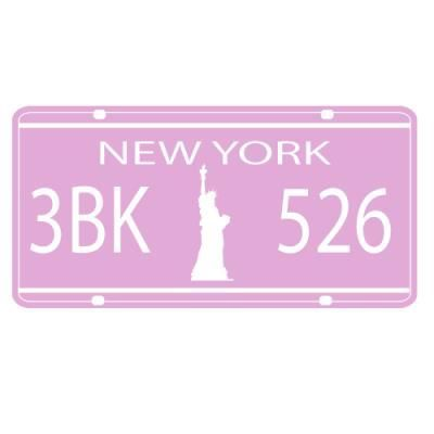 sticker plaque immatriculation new york 2 achat vente stickers cdiscount. Black Bedroom Furniture Sets. Home Design Ideas
