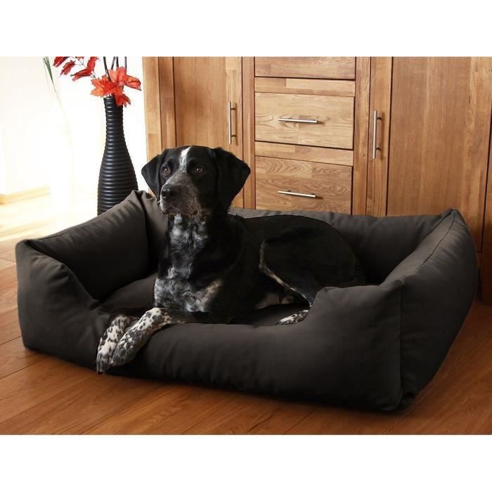knuffelwuff dreamline lit pour chien xxl 120cm x 85cm noir achat vente corbeille coussin. Black Bedroom Furniture Sets. Home Design Ideas
