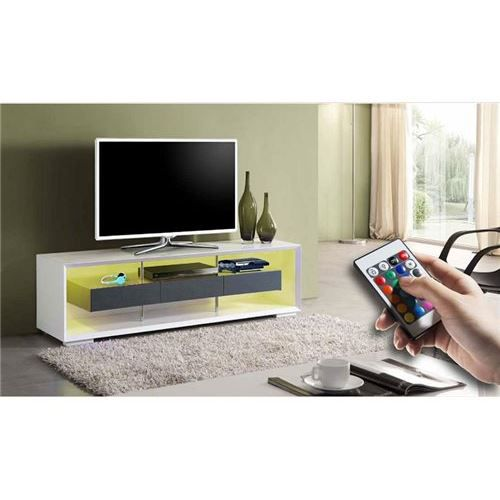 meuble tv design umi avec led achat vente meuble tv. Black Bedroom Furniture Sets. Home Design Ideas