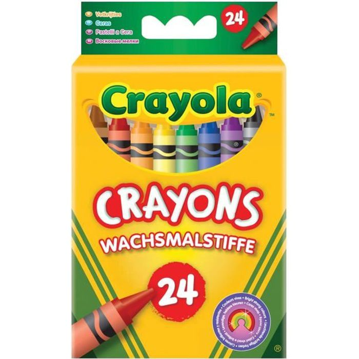 crayola 24 crayons la cire achat vente crayon de couleur crayola 24 crayons la cire. Black Bedroom Furniture Sets. Home Design Ideas