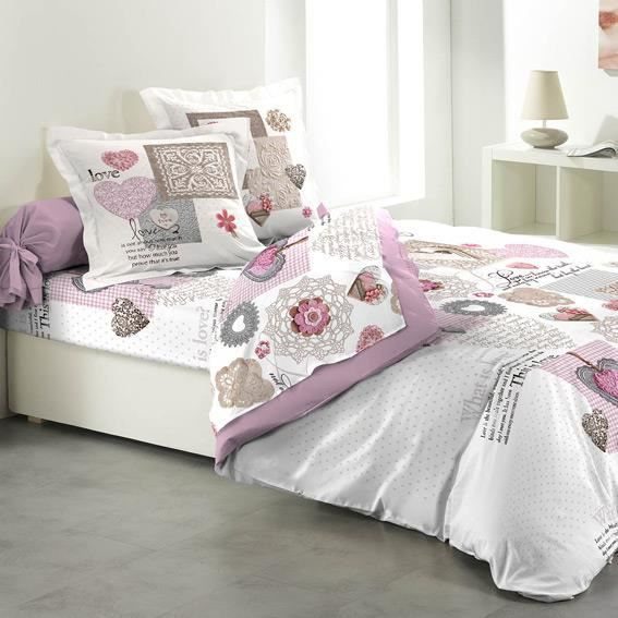 parure de draps 4 pi ces monsegur achat vente parure de drap cdiscount. Black Bedroom Furniture Sets. Home Design Ideas