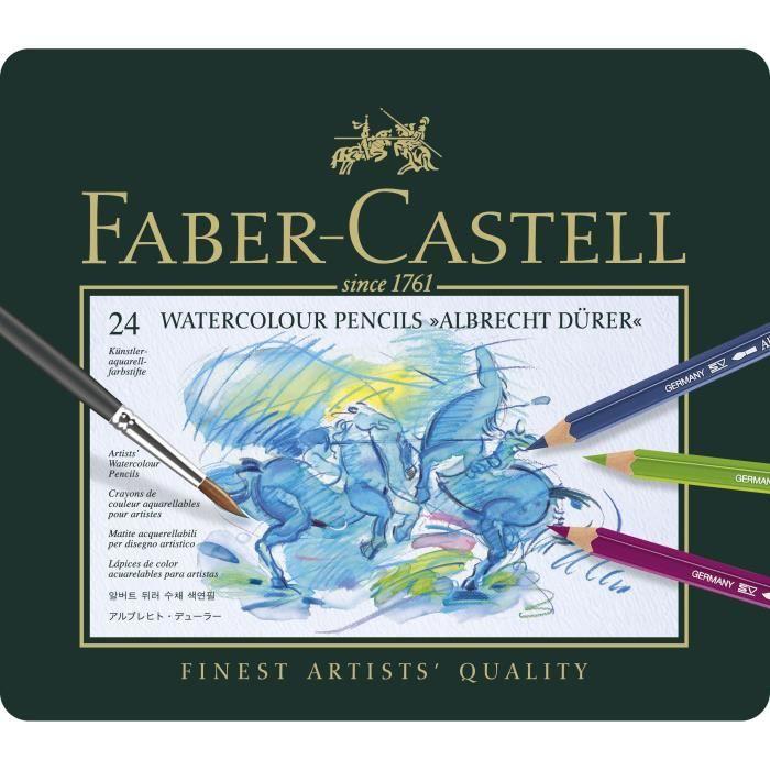 CRAYON DE COULEUR FABER-CASTELL Boîte 24 Crayons de Couleur A. Dürer