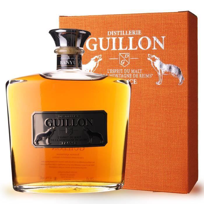 WHISKY BOURBON SCOTCH Guillon finition Banyuls 70cl - Etui - Esprit de M
